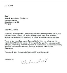 Thank You Letter To Employee For Job Well Done