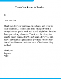 How To Write a Thank You Letter To Teacher